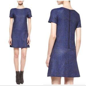 Alice + Olivia Liv Chevron Jacquard Dress